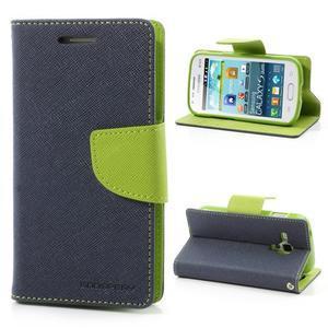 Diary puzdro na mobil Samsung Galaxy S Duos / Trend Plus - tmavomodré - 1