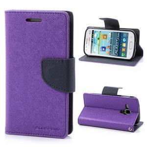 Diary puzdro na mobil Samsung Galaxy S Duos / Trend Plus - fialové - 1