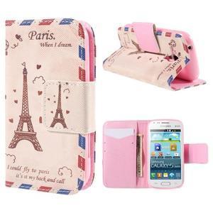 Peňaženkové puzdro pre Samsung Galaxy S Duos / Trend Plus - Eiffelova veža - 1