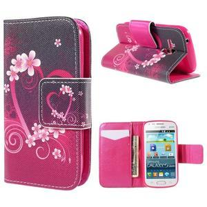 Peňaženkové puzdro pre Samsung Galaxy S Duos / Trend Plus -  srdce - 1