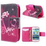 Peňaženkové puzdro pre Samsung Galaxy S Duos / Trend Plus -  srdce - 1/7