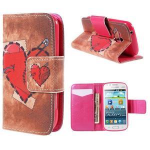 Peňaženkové puzdro pre Samsung Galaxy S Duos / Trend Plus - zlomené srdce - 1