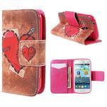 Peňaženkové puzdro pre Samsung Galaxy S Duos / Trend Plus - zlomené srdce - 1/7