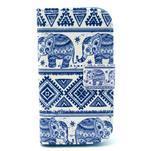 Peňaženkové púzdro na Samsung Galaxy S3 mini - slony - 1/6