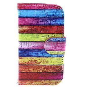 Peňaženkové puzdro na Samsung Galaxy S3 mini - farby dreva - 1