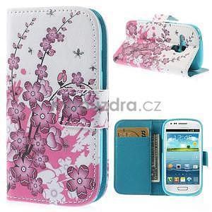 Puzdro na mobil Samsung Galaxy S3 mini - kvitnúca vetvička - 1