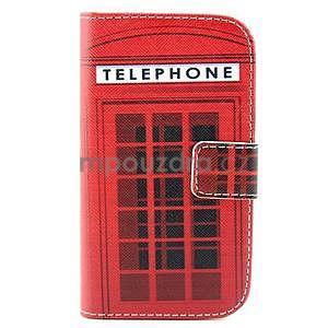 Peňaženkové puzdro na Samsung Galaxy S3 mini - telefónna búdka - 1