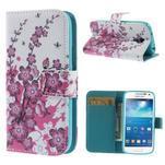 Peňaženkové puzdro pre Samsung Galaxy S4 mini - kvetúca vetvička - 1/7