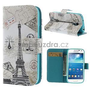 Peňaženkové puzdro pre Samsung Galaxy S4 mini - Eiffelova veža - 1