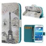 Peňaženkové puzdro pre Samsung Galaxy S4 mini - Eiffelova veža - 1/7