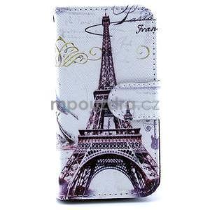 Eiffel peňaženkové puzdro na mobil Samsung Galaxy S4 mini - 1