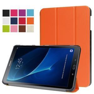 Trifold polohovatelné puzdro pre Samsung Galaxy Tab A 10.1 (2016) - oranžové - 1