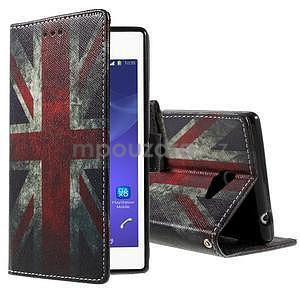 Peňaženkové puzdro na mobil Sony Xperia M2 - UK vlajka - 1