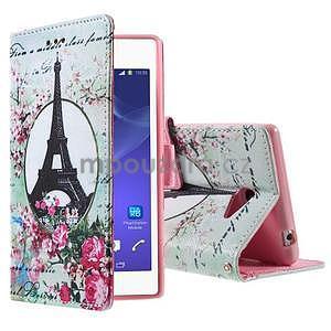 Peňaženkové puzdro na mobil Sony Xperia M2 - Eifellova veža - 1