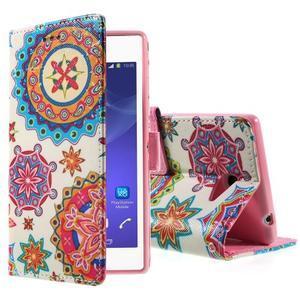 Peňaženkové puzdro na mobil Sony Xperia M2 - mandala - 1
