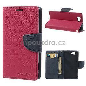 Fancy peňaženkové puzdro pre Sony Xperia Z1 Compact - rose - 1