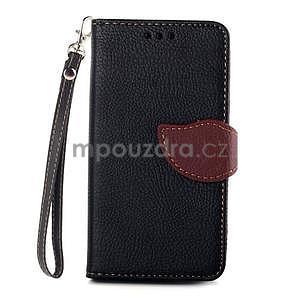 Leaf Peňaženkové puzdro pre Sony Xperia Z3 Compact - čierne - 1