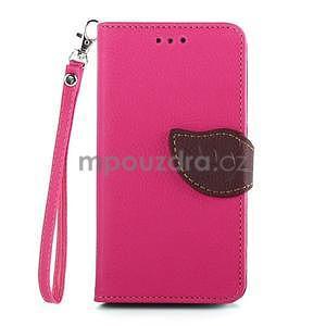 Leaf peněženkové pouzdro na Sony Xperia Z3 Compact - rose - 1