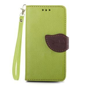 Leaf Peňaženkové puzdro pre Sony Xperia Z3 Compact - zelené - 1