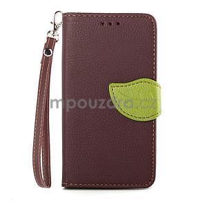 Leaf peněženkové pouzdro na Sony Xperia Z3 Compact - hnědé - 1