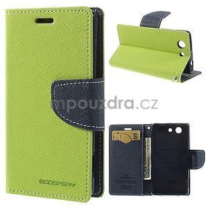 Diary peněženkové pouzdro na mobil Sony Xperia Z3 Compact - zelené - 1