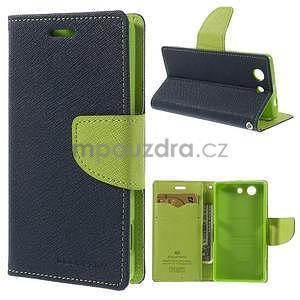 Diary peněženkové pouzdro na mobil Sony Xperia Z3 Compact - tmavěmodré - 1