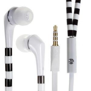 Sally Pecková slúchadlá pre počúvanie hudby a telefonovanie - černobiele - 1