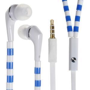 Sally Pecková slúchadlá pre počúvanie hudby a telefonovanie - modrobiele