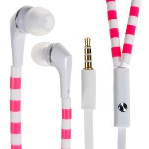 Sally Pecková slúchadlá pre počúvanie hudby a telefonovanie - ružovobiele - 1