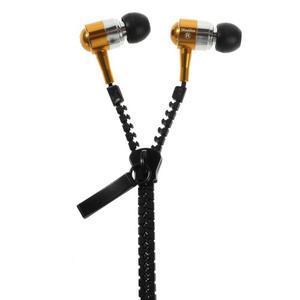 Zippy pecková slúchadlá pre počúvanie hudby - zlatá - 1