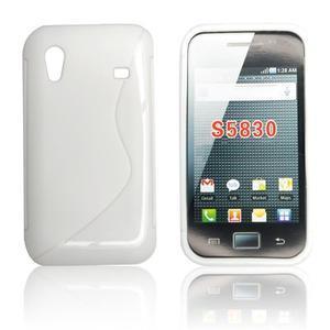 Gélové S-line puzdro pre Samsung Galaxy Ace S5830- biele