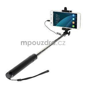 GX automatická selfie tyč so spínačom - čierná - 1