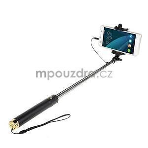 GX automatická selfie tyč so spínačom - zlatá - 1