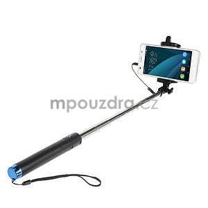 GX automatická selfie tyč se spínačem - modrá - 1