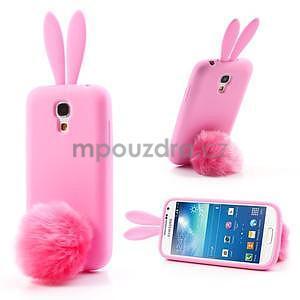 Silikonový obal na Samsung Galaxy S4 mini - růžový králík - 1