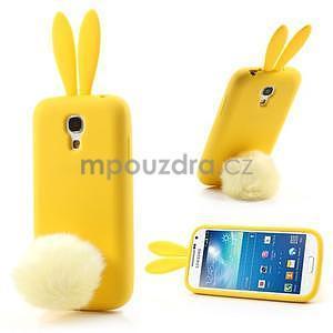 Silikonový obal na Samsung Galaxy S4 mini - žltý králík - 1