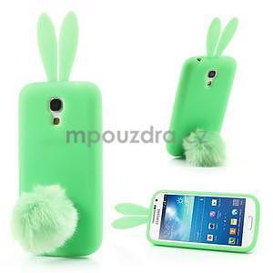 Silikonový obal na Samsung Galaxy S4 mini - zelený králík - 1