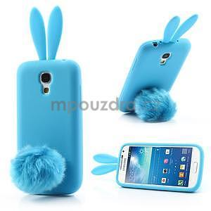 Silikonový obal na Samsung Galaxy S4 mini - modrý králík - 1
