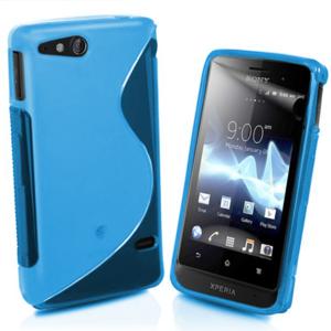 Gélové S-line puzdro na Sony Xperia Go- modré - 1