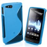 Gélové S-line puzdro na Sony Xperia Go- modré - 1/3