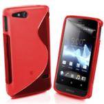 Gélové S-line puzdro na Sony Xperia Go- červené - 1/3