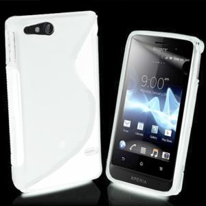 Gélové S-line puzdro na Sony Xperia Go- biele