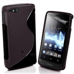 Gélové S-line puzdro na Sony Xperia Go- čierne - 1