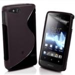 Gélové S-line puzdro na Sony Xperia Go- čierne - 1/3