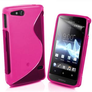 Gélové S-line puzdro na Sony Xperia Go- růžové - 1
