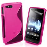 Gélové S-line puzdro na Sony Xperia Go- růžové - 1/3