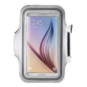 Fittsport puzdro na ruku pre mobil do rozmerov 143.4 x 70,5 x 6,8 mm - biele - 1