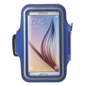 Fittsport puzdro na ruku pre mobil do rozmerov 143.4 x 70,5 x 6,8 mm - modré - 1