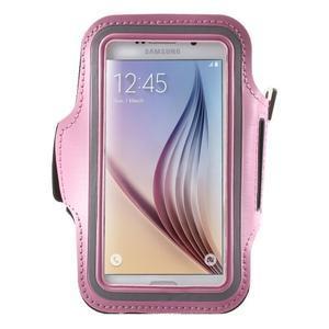 Fittsport pouzdro na ruku pro mobil do rozměrů 143.4 x 70,5 x 6,8 mm - růžové - 1