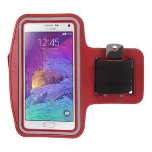 Gym bežecké puzdro na mobil do rozmerov 153.5 x 78.6 x 8.5 mm - červené - 1